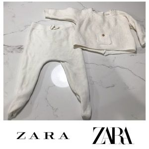 Zara baby knitwear knit two piece set boy girl
